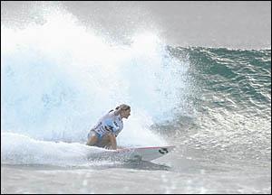 Kiwi import Airini Mason (Tugun, Qld) was the Billabong Junior Pro women?s winner.