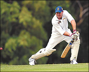 Sawtell captain Chris Neal bravely opened the innings at Fitzroy Oval to lay a platform for Sawtell making the highest score of