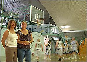 Ballina Basketball Association president Eva Ramsey, left, and junior co-ordinator Rosemary Knight are behind a push to build a