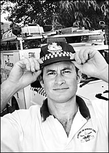 FEET UP: With countless rescue operations behind him, former Snr Const Neville  Graham, of the Lismore Police Rescue and Bomb S