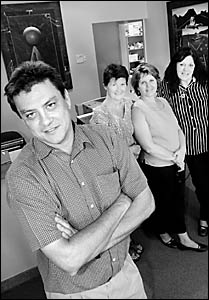 MEDICAL centre staff (from left) Dr Craig Russell, receptionist Noeline Hughes, practice manager Jenny Horsley and Indigenous h