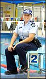 Atlanta Olympics swimming silver medallist Angela Woodward is the Boyne-Tannum police service?s new officer.