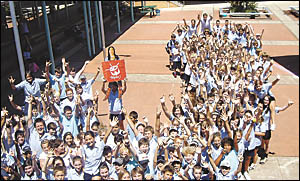 A good chance of winning ... students from Nambucca Heads High School are working towards a common goal: to win the right to ho