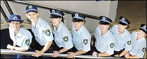 Richmond Local Area Command probationary officers all originally from the North Coast are (from left) Const Danielle Ford, Cons