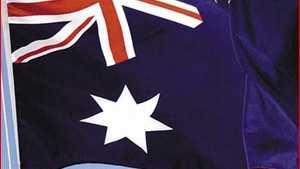 Australian National Flag Association president John Brett. Picture: Neville Madsen