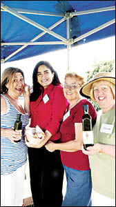 OLIVE FANS: (From left) Nelly Basile from Brisbane, Rosie and Maria Leo, both from Casino, and Anna Burky from Brisbane.