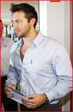 Ian Thorpe leaves his weekend press conference where he defended drug allegations against him.