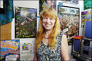 Nimbin Craft Gallery co-owner Lindy Brown does not want a repeat of last year?s Mardi Grass when her takings were down by half