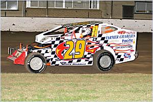 The V8 Dirt Modified of Stuart Herne.