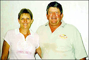 Summerland singles champions Sharon Ball and Wayne Cowan.