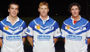 GHOSTS WITH A CHANCE: Khan Williams, left, Ben McLennan, Dan Roberts.