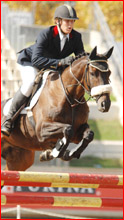 Tom Sedger and LL Gift leaping to victory at the 2007 Sydney Royal Easter Show.
