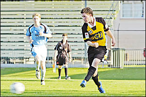 Dylan Rippon in action for Goonellabah against Ballina on Saturday.