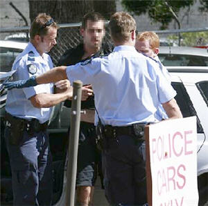 A man is taken into custody after allegedly holding up a driver with a syringe in Nambour,