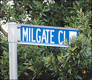 MEAN STREET: Milgate Close in Goonellabah.