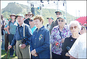 THEIR PILGRIMAGE: At Gallipoli (from left) are Shirley Oag, Marcia Bourne and Joy Cran. The women?s fathers all fought there in