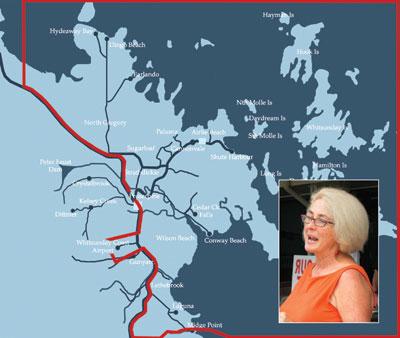 Louise Mahoney's proposed Whitsunday Coast and Island Shire boundary.