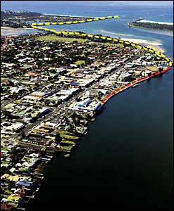 OPEN ACCESS: Ballina?s extended river walk. The existing pathway is in yellow. When developments on the river are finished the