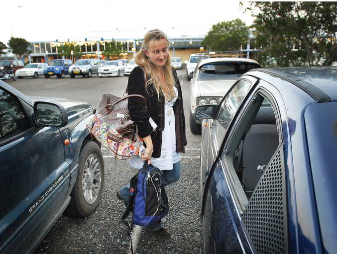 Kate Dallimore returns to find her car window smashed and her stereo stolen.