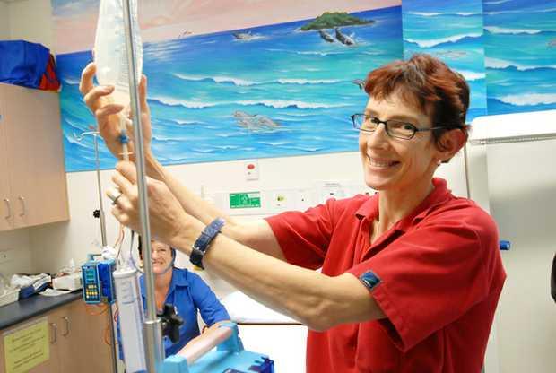 Graduating nurse Margo Burl at Coffs Harbour Health Campus. PHOTO: TREVOR VEALE