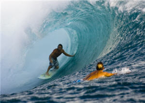 Coast surfer Mark Visser is taking big-wave riding very seriously, even to the point of breathing training.