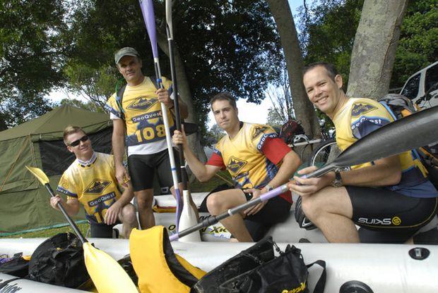 Team Kamikaze prepare their kayak for this weekend?s GeoQuest Adventure Race.