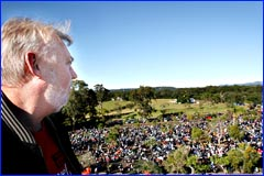 Bruce Morcombe reflects on the 4800 motorcycles gathered for the annual ride in memory of his son, Daniel.