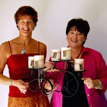 Beracah senior sales manager Nicole Hilton  and consultant Carol Reddington.