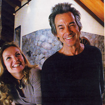 Malaney-based guitarist Kevin Borich and wife Melissa relax at home.