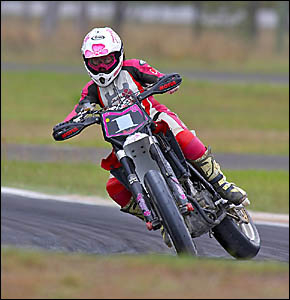 Rebecca Bateman has turned to the Supermoto Cup Series this season.