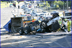 CARNAGE: The scene of the truck accident on Jones Road, Buderim.
