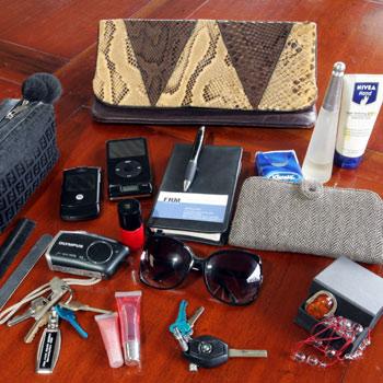Handbag contents tell all our secrets