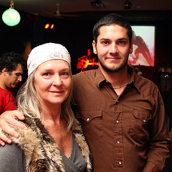 Ryan Toohey's mum Barbara London and his brother Liam Toohey at the fundraising night at Sol Bar, Coolum for fundraiser for Ryan who suffered critical injuries in a single vehicle smash.