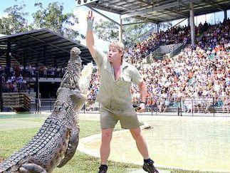 Steve Irwin, the legendary Crocodile Hunter, at Australia Zoo in Beerwah
