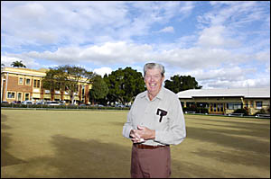 PROUD AS PUNCH: Lismore City Bowling Club president Bob Johnson has been getting the club spruced up for its centenary celebrat
