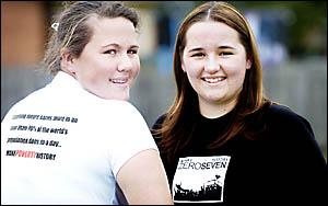 MOTIVATED: Dani Maree Eddy, 16, of Ballina, and Anika Woodford, 17, of Wollongbar, are joining the MAKEPOVERTYHISTORY ZEROSEVEN