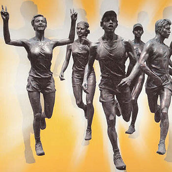 Mooloolaba councillor Tom Hulett's plan to put eight bronze statues of runners in Mooloolaba has created a storm among locals.