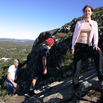 Annita deNovo, who climbs up Mt Coolum almost daily, is concerned changes to the famous walking trail after too extreme. Photo: Brett Wortman/BW166971F