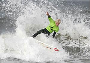 HOT FAVOURITE: Byron Bay surfer Garrett Parkes.