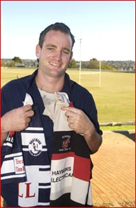 Steve O'Leary has started playing for both rugby union side Rangers and rugby league club Brothers in Toowoomba.