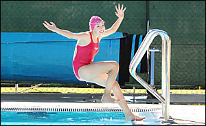MAKING A SPLASH: Goonellabah girl, Hannah Britton has the potential to overcome deafness and compete at international level. JA