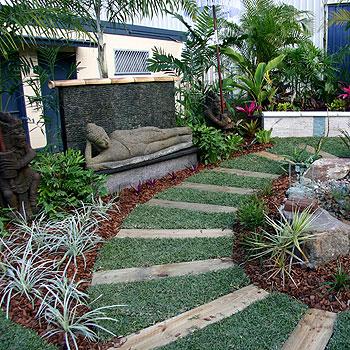 A Balinese-style garden designed by Sunshine Coast Gardener's Paradise for last year's Home Garden Expo.