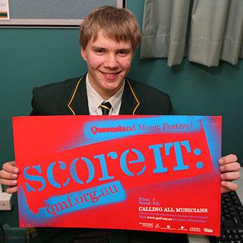 Sunshine Coast Grammar School student Andrew Wrangell is a finalist in the SCORE IT mutli-media contest. Photo: Jason Dougherty