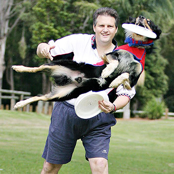 K9 Flyers Damian Noud and Tiger Eye will perform in the arena at Farm Fantastic at Caboolture this weekend.