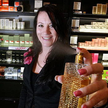 Cathy Yarrow, Cosmax manager at Myer Maroochydore, knows her scents.