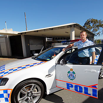 This Holden Commodore SV6 has been transformed into a highly visible traffic enforcement vehicle complete with public address system, message bar and all the bangs and whistles expected in new police vehicles.