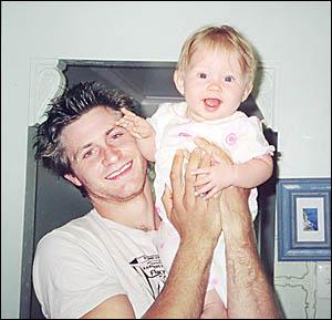 MY HERO: Joshua Parker-Le Bars and his daughter, Panama Pearl.