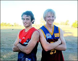 SENIOR JUNIORS: Will Alexander (left) and Mitch Baum.