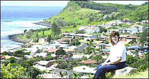 TOP OF THE WORLD: Margaret Condon on the ridgeline that is now at the centre of a public donation offer from the Condon family