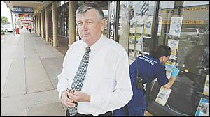 BROKEN HEARTED: Peter Savage fathoms to make sense of vandal attacks as forensic crime scene officer Sloan Hamilton fingerprint